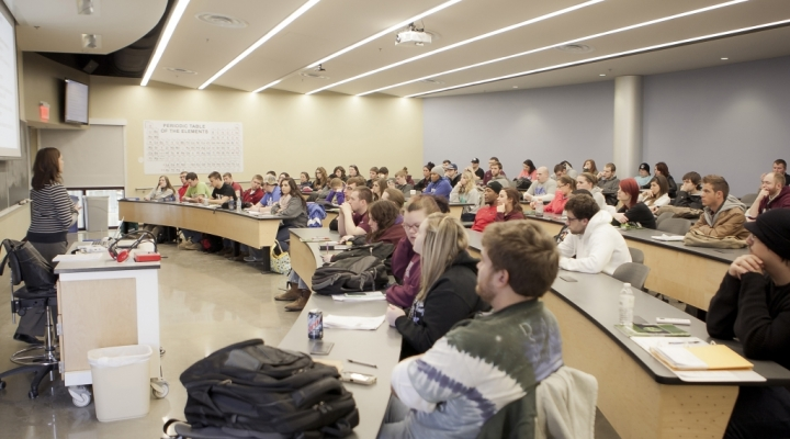 Class in New Science Building